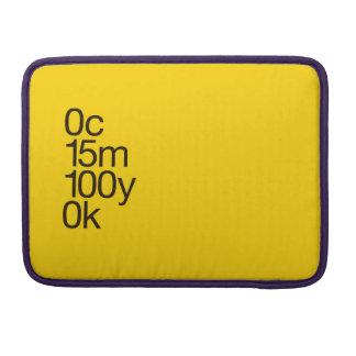 Amarelo de CMYK Capa Para MacBook