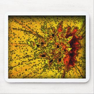 """Amarelo de """"ConchSalad"""" e arte bonitos das laranja Mousepads"""