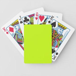 Amarelo de néon do verde limão fluorescente baralhos de carta