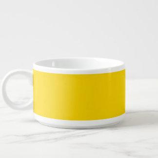 Amarelo do auto escolar tigela de sopa