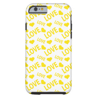 Amarelo do coração 1 do amor capa para iPhone 6 tough