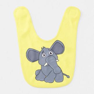 amarelo do elefante do babador do bebê