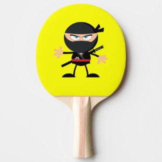 Amarelo do guerreiro de Ninja dos desenhos Raquete De Ping Pong