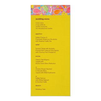 """Amarelo do menu do casamento de Ganesh Convite 10.16"""" X 23.49cm"""