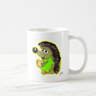 amarelo do ouriço caneca de café
