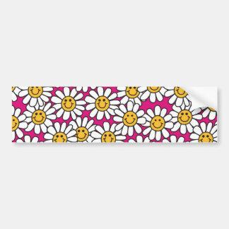 Amarelo do rosa do teste padrão de flores da marga adesivo