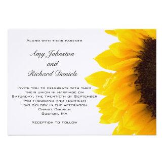 Amarelo preto amarelo do convite do casamento do