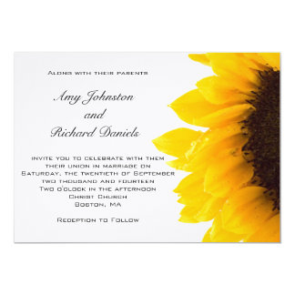 Amarelo preto amarelo do convite   do casamento do convite 12.7 x 17.78cm