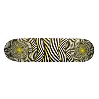 Amarelo Retro-hipnótico industrial do skateboard/ Shape De Skate 20,6cm