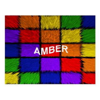 ÂMBAR (nomes fêmeas) Cartão Postal
