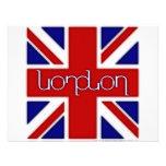 "Ambigram de ""Londres"" na bandeira BRITÂNICA Convites Personalizado"