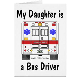 Ambulância do EMS, filha do condutor de autocarro, Cartão Comemorativo