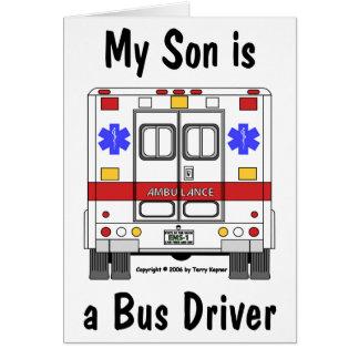 Ambulância do EMS, filho do condutor de autocarro, Cartão Comemorativo