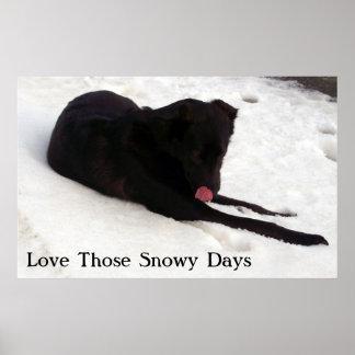 Ame aqueles dias nevado posters