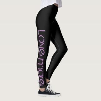 Ame mais calças justas leggings