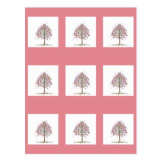 ame-me árvore cartão postal