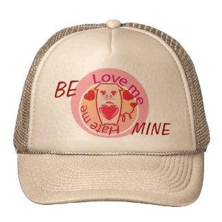 Ame-me deiam-me chapéu cor-de-rosa do porco bones