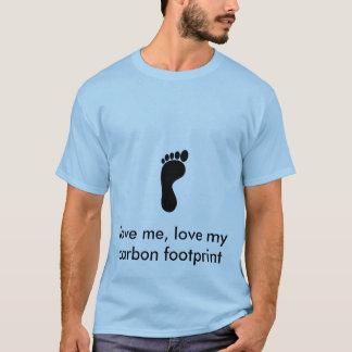 Ame minha pegada do carbono - personalizada t-shirt
