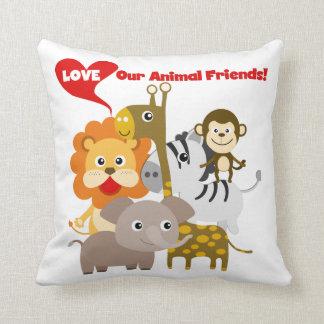 Ame nossos amigos animais almofada