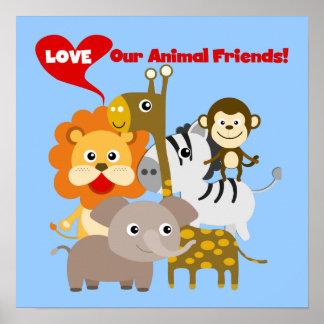Ame nossos amigos animais poster