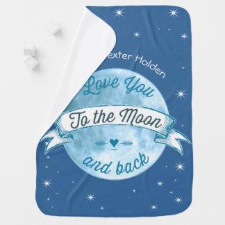 Ame-o à lua e ao bebé traseiro do homem de Lil Cobertor De Bebe