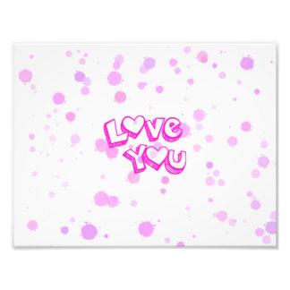 Ame-o, cor-de-rosa impressão de foto