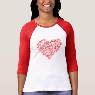 Ame-o dia de são valentim vermelho do t-shirt do