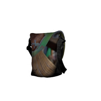 Ame o geco - deixe-o proteger seu material bolsas mensageiro
