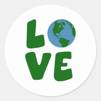 Ame o planeta da Mãe Terra Adesivo