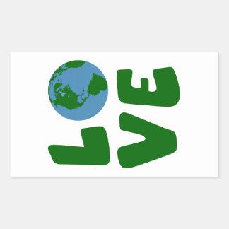 Ame o planeta da Mãe Terra Adesivo Retangular
