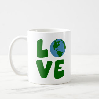 Ame o planeta da Mãe Terra Caneca