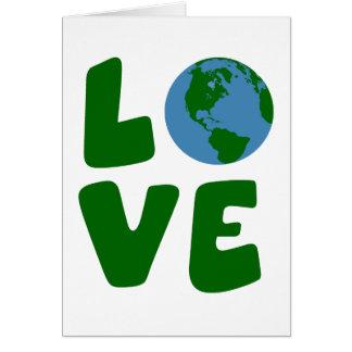 Ame o planeta da Mãe Terra Cartão Comemorativo