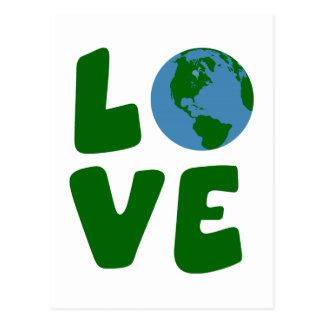Ame o planeta da Mãe Terra Cartão Postal