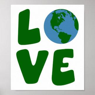 Ame o planeta da Mãe Terra Impressão