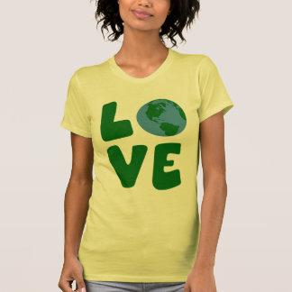 Ame o planeta da Mãe Terra Camisetas