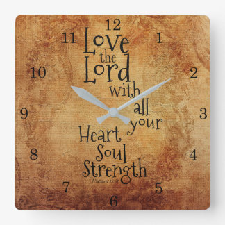 """""""Ame o senhor"""" escritura Matthew 22, vintage Relógios De Pendurar"""