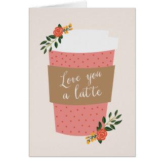 Ame-o uns namorados de Latte | Cartão De Nota
