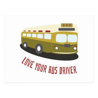 Ame seu condutor de autocarro cartão postal