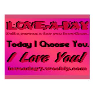 Ame um cartão do dia cartão postal