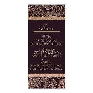 Ameixa & menu cor-de-rosa do ouro 10.16 x 22.86cm panfleto