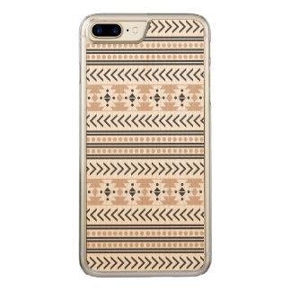 Amêndoa geométrica do teste padrão do impressão capa para iPhone 7 plus carved