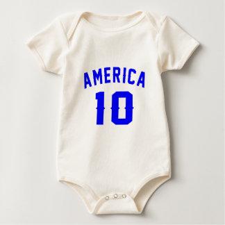 América 10 designs do aniversário body para bebê