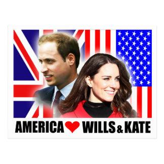 América ama vontades & cartão de Kate