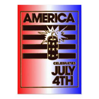 América aniversário 4 de julho de 1776 convite 12.7 x 17.78cm