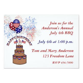 América aniversário convite do 4 de julho