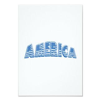 América azul convite 8.89 x 12.7cm