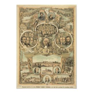 América centenária (1876) convite personalizados