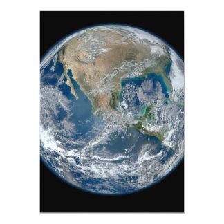America do Norte do baixo satélite de órbita Convite 12.7 X 17.78cm