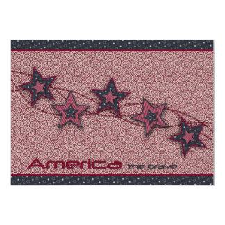 América o cartão bravo do convite