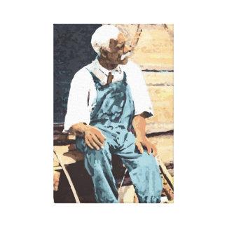 """América preta """"Joe idoso """" Impressão De Canvas Envolvidas"""